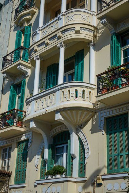 architectural details in Olympou street, Thessaloniki