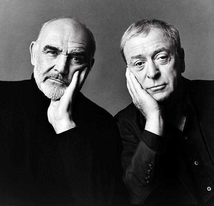Sean Connery y Michael Caine, fotografiados por Michael O'Neill, 1998