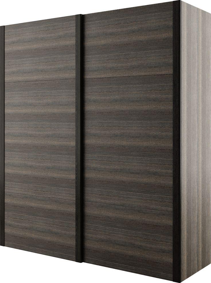 oszczędzająca przestrzeń szafa DENVER z drzwiami przesuwnymi / DENVER space-saving wardrobe with sliding doors #sypialnia #bedroom #mebledosypialni #bedroommfurniture #interiordesign #darkinteriors #darkfurniture #darkbedroom #meble #furniture #wardrobe #closet #szafa #mebledenver #slidingdoorscloset #szafazdrzwiamiprzesuwnymi