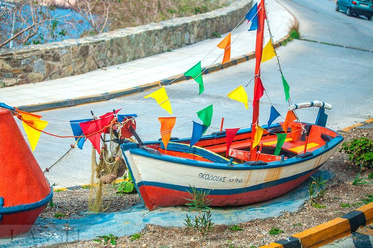 Santorini; boat