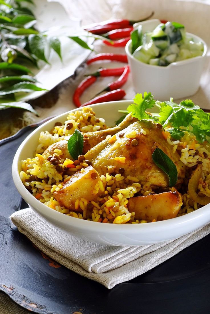 Chicken Breyani - a wonderful traditional Cape dish, singing with spices and packed with flavour. #SouthAfrican #SouthAfrica #CapeTown #Recipe