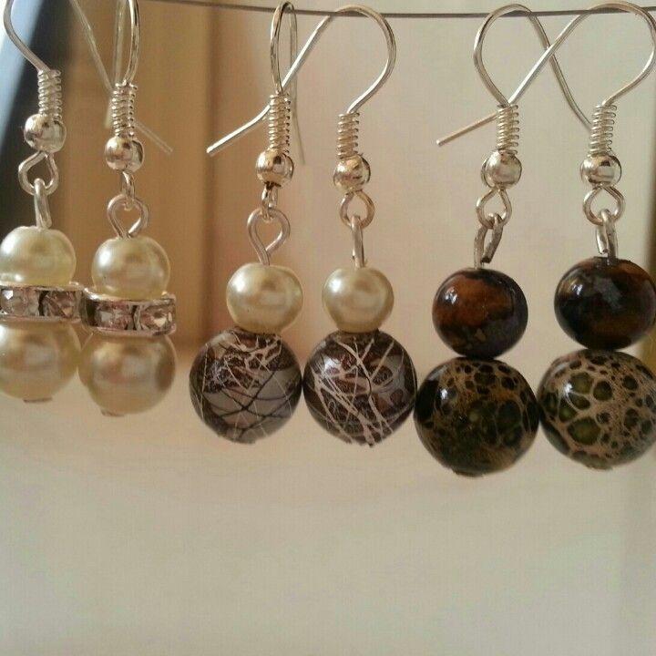 Homemade earrings! Most materials from @Hobbycraft #hobby ...