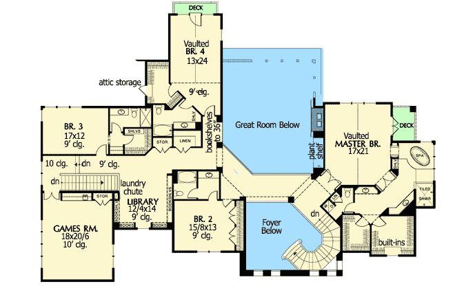 Plan 69459AM: Spanish Colonial Dream Home Plna