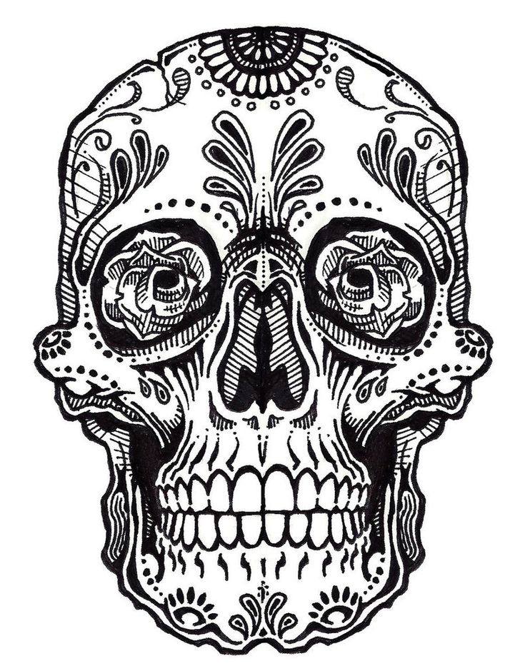 Tattoo Line Drawing Books : Skull tattoo line art jos gandos coloring pages for kids