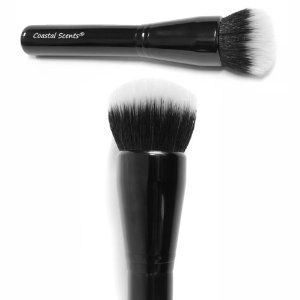 Coastal Scents Divine Powder Buffer Foundation Brush by Coastal Scents. $23.62. great for liquid foundation. more dense than other duo fiber brushes. it can be used for liquid or powder foundation. Our Divine Powder Buffer is a staple for any makeup kit. This duo fiber brush allows you to create a flawless light to medium coverage application of loose powder, pressed powder, or liquid foundation.