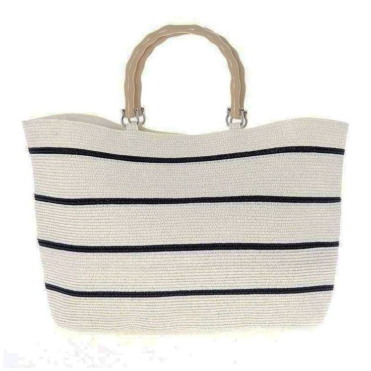 """Marine"" Bag White / Black With Crocodile Handle #homerecipegr"