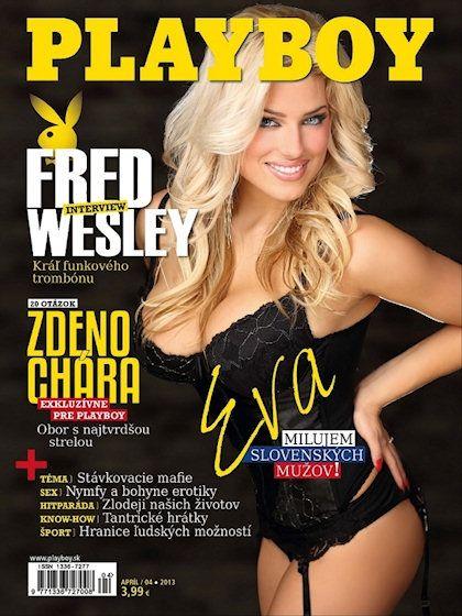 Playboy (Slovakia) April 2013  with Eva Perkausova on the cover of the magazine