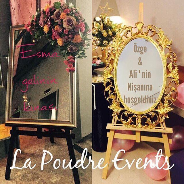 Aynalı çerçevelerimiz kıralanmak için sizleri bekliyor! Özel günlerinizde ve davetlerinizde tamamlayıcı bir aksesuar olan aynalı kişiye özel yazılı çerçeveleri uygun fiyata sunuyoruz. 🌸💍✨💕🤵🏼👰🏼🌺🎉🎊💝 #eventorganizer #eventplanner #event #weddingdress #wedding #weddingday #weedingparty #gateaucreateur #gateaux  #picoftheday #organisation #dessin #concept #shesaidyes #flowers #luxurywedding #weddinginspiration #kinaaynasi #kinatahti #kinaparis #balon #dugun #düğün #gelin #gelinlik…