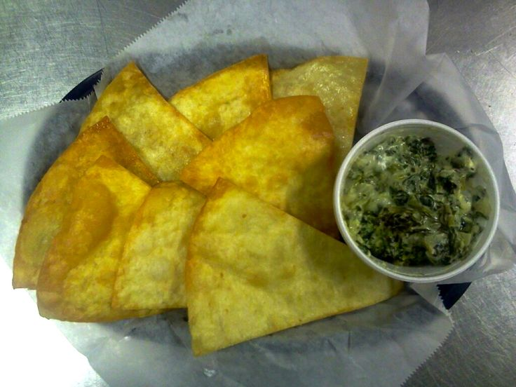 For a Limited Time Only! Warm Cheesy Shooters Grill Spinach Dip with Fresh Hot Home-Made Tortilla Chips! Come & Get It while it lasts! Great for Sharing!