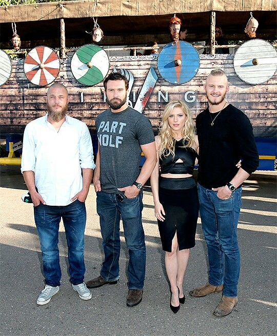 Travis Fimmel, Clive Standen, Katheryn Winnick and Alexander Ludwig