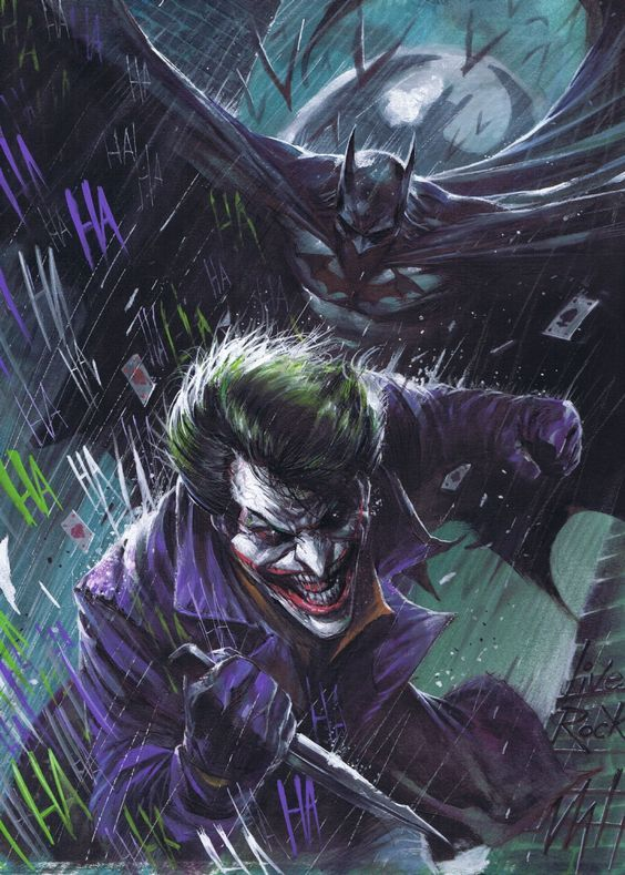 Joker and Batman by Francesco Mattina