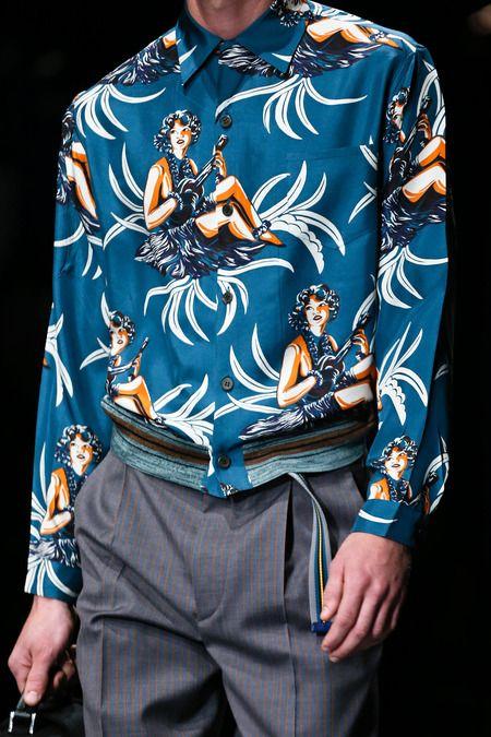 Prada Spring 2014 Menswear #print #tropical
