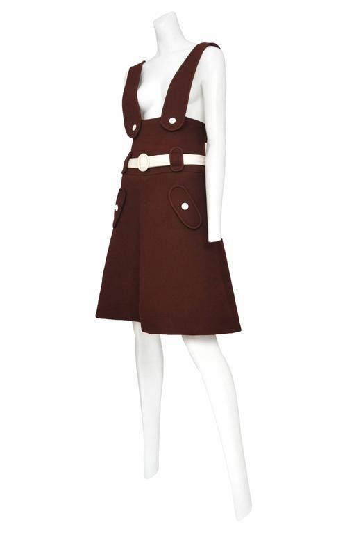 Courreges Brown Wool Jumper 3