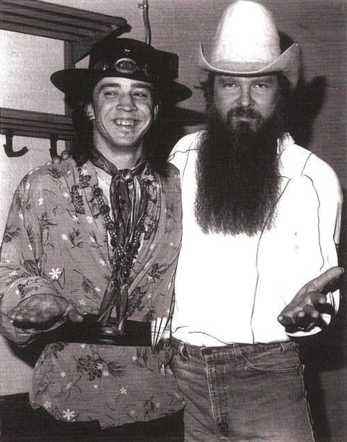 Stevie Ray Vaughn and Billy Gibbons