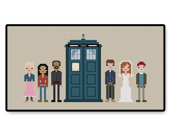 Doctor Who  Tenth Doctor's Companions  Cross Stitch by HugSandwich