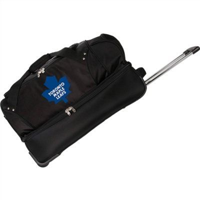 Denco Toronto Maple Leafs 27'' Rolling Soft Luggage Bag