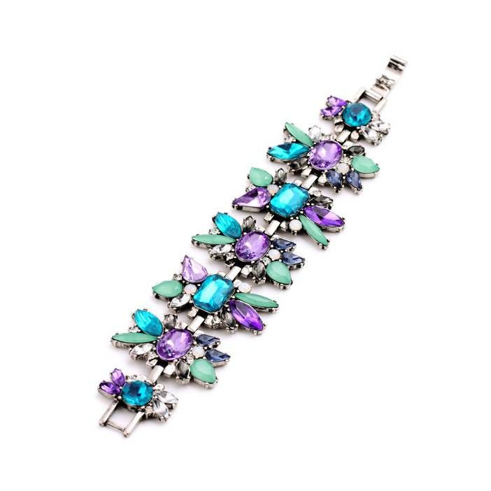 Fun way to celebrate colors - Birdie Rhinestone bracelet - Pink Hippo Store