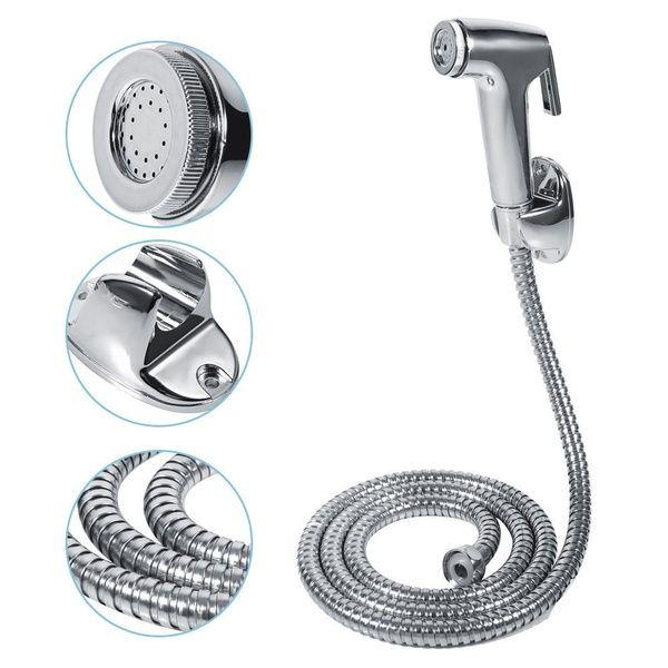 Handheld Bidet Toilet Shattaf Adapter Kit Sprayer Shower Head Wall Bracket Set Q Shower Heads Portable Bathtub Bathroom Accessories Luxury