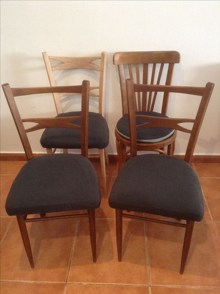 Refurnished Mocholi chairs. Matching, mismatched chairs - mid century modern