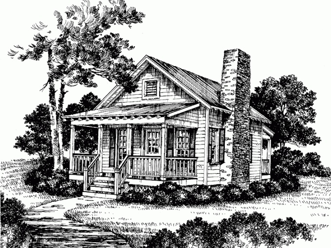 Tiniest cottage 412 house plans pinterest mini for Witches cottage house plans