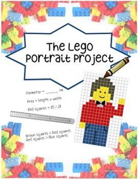 Lego Portrait Project - Fractions, Area, Perimeter, Art