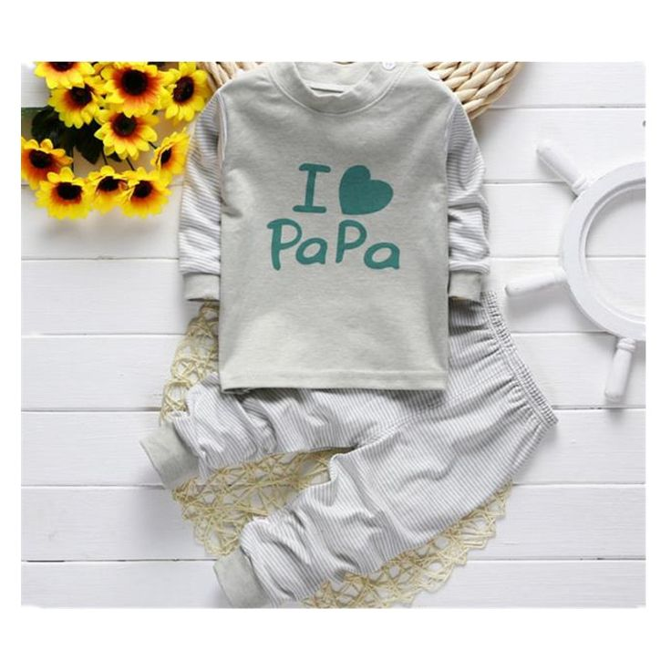 2016 Free ship 0-24M new  autumn  winter long  sleeved  cotton underwear   the fall  pajamas kids  baby clothes hot sale A0012