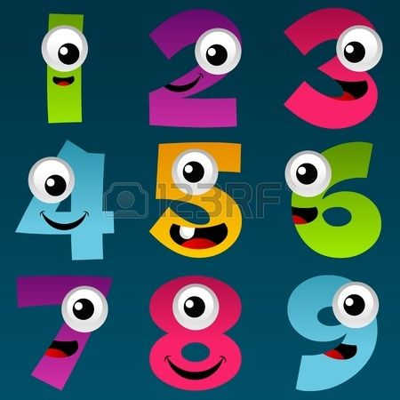 Cartoon Numbers Set 4