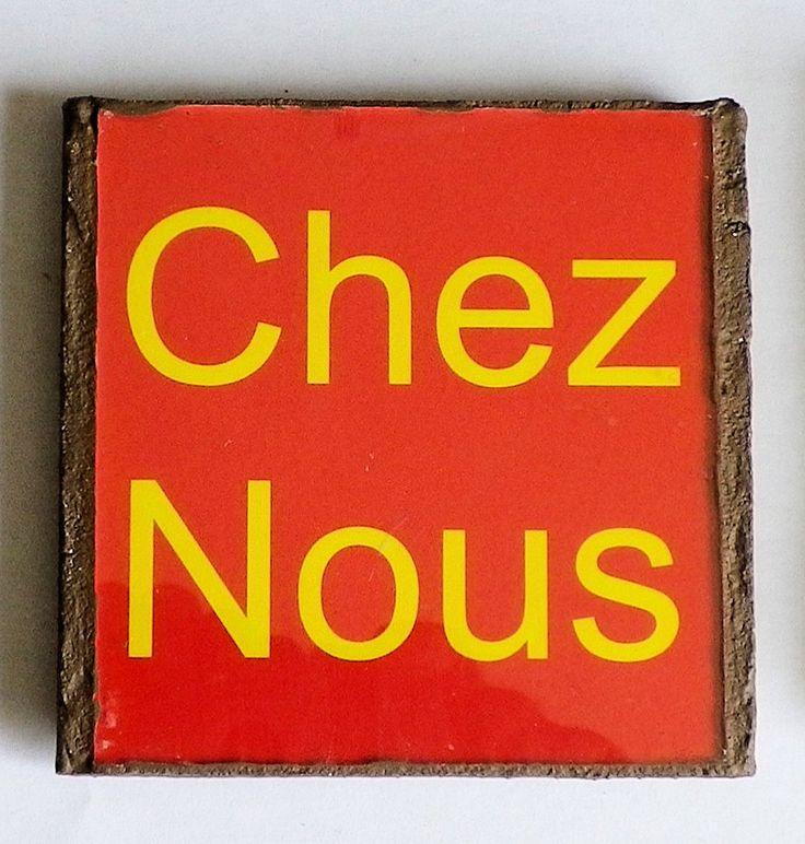 Text Chez Nous FFHHG by LachanceGlassMosaic on Etsy