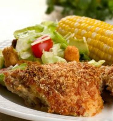 Crispy Faux Fried Chicken: This 25-minute recipe is always a hit for our family!| via @SparkPeople #food #dinner #healthy
