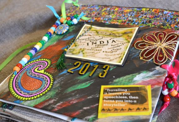 OOAK Personalized Travel Journal/ Travel Scrap by TheArtizanAffect