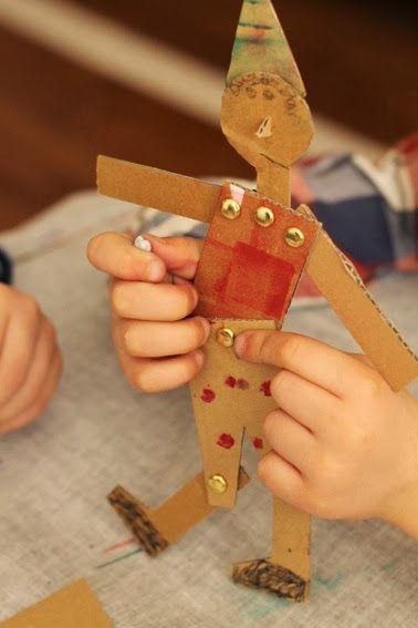 Split pin Pinocchio #EYFS #Creative #Fine Motor