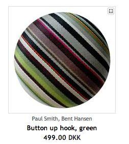 Bent Hansen button up green stripes, Illums.com