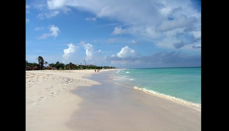 Eagle beach, en la isla de Aruba