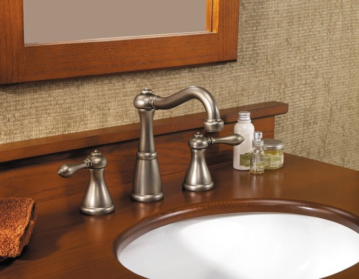 Pfister Marielle Widespread Lavatory Faucet With Metal Pop Up In Polished  Chrome. Available In