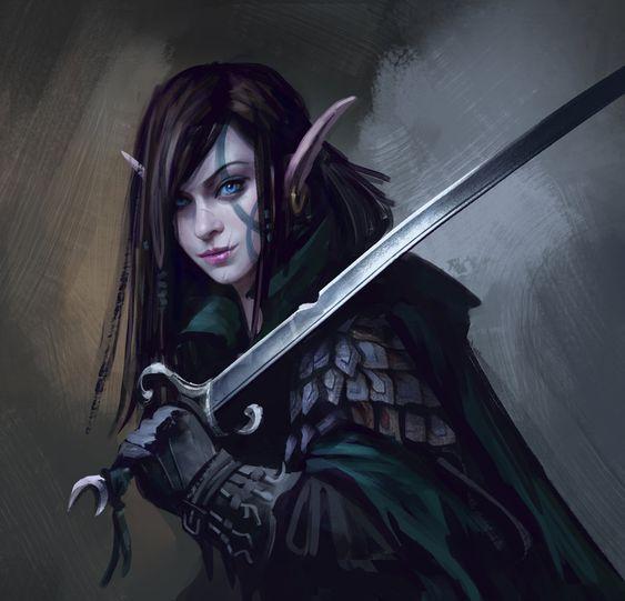 Moon Elf Elves Drow In 2019 Character Portraits Fantasy