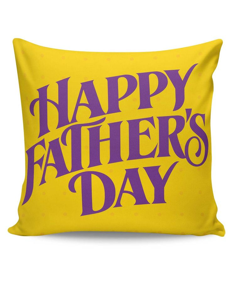 Happy Father's Day Purple Typography Cushion Cover