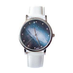 Zegarek biały kosmos nowoczesny stylowy