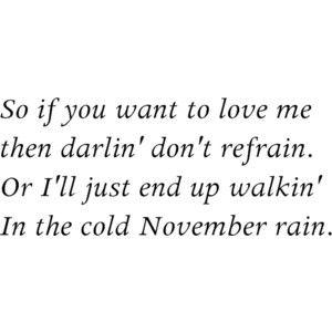 November Rain, Guns 'N Roses <3