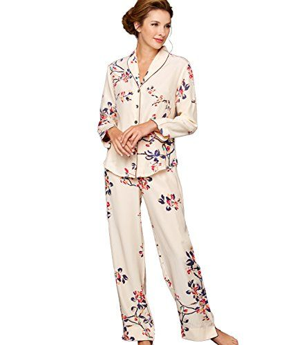 1dc7330949 Julianna Rae Natalya Women s 100 Silk Print Pajamas