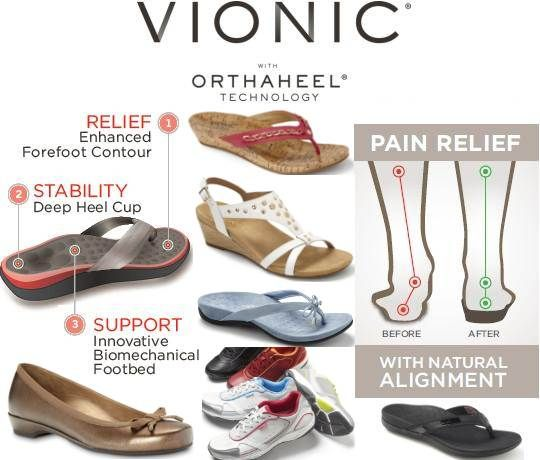 Purchase Vionic Sandals and Vionic Walking Shoes with Orthaheel Technology