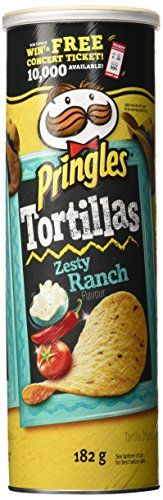 #7: Pringles Tortillas Chips Zesty Ranch Flavor 182 Gram