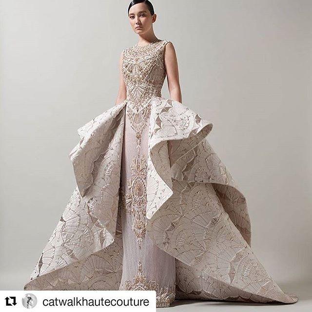 #Repost @catwalkhautecouture (@get_repost)  #saiidkobeisy haute couture SS 18