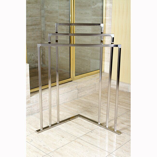 Edenscape Free Standing Towel Stand Reviews Joss Main Free Standing Towel Rack Towel Rack Kingston Brass