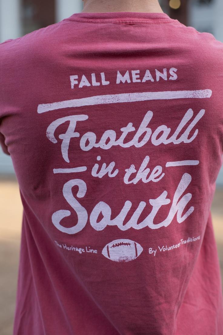 Fall Football Pocket Tee/ Crimson with White