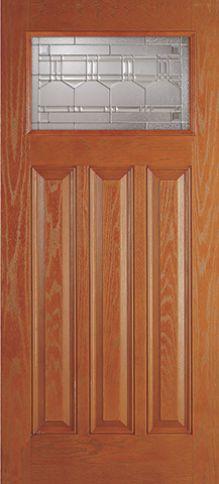 Fiberglass Artesano Breeze 1 Lite 3 Panel [DRG6C ARZTL3Z A]. Cottage DoorExterior  DoorsCottages