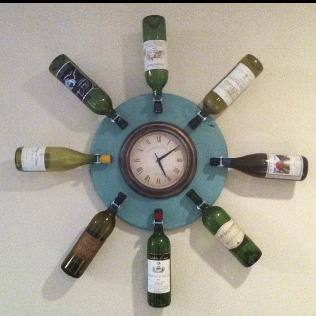 33 Best Images About Wine Clocks On Pinterest Vineyard