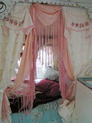 Junk Gypsy Style Attic Bedroom | Found on blossomsvintagechic.blogspot.com