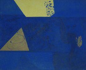 Fuga con brio Öl auf Leinwand 65 x 70 cm, 1994