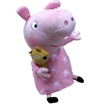 """Bedtime Peppa Pig 10"""" Buddy Large Soft Toy Price: £12.99 http://shop.peppapigworld.co.uk/collections/soft-toys-beanies/products/bedtime-peppa-pig-10-buddy-large-soft-toy"""