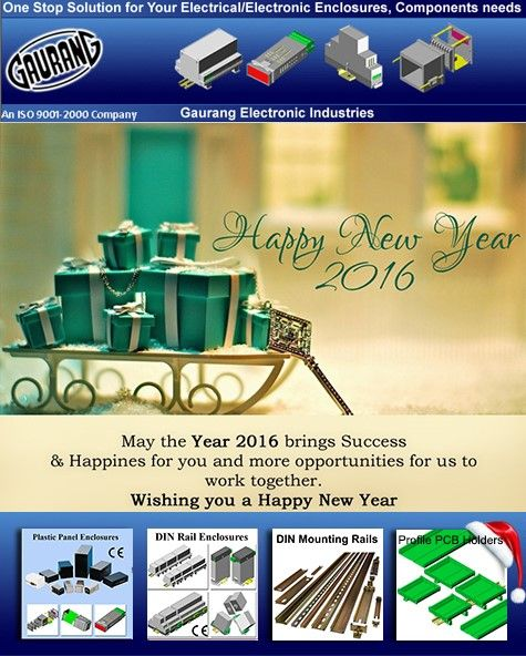 Happy New Year 2016  Our warm and personal wishes to you & all for a very happy & prosperous 2016!!!.   We hope the New Year grants you with lots of joy, health, great moments and good business!!!   Our main objective consists of offering you good quality products, the best service, supporting long term relationship with you and your company.   In coming New Year 2016 we look forward to a growing mutual business relationship.   Remember that our commitment is with you. Always.